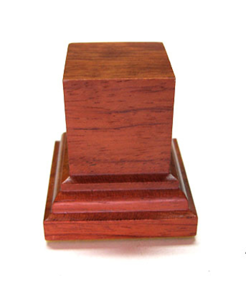 PEANA PEDESTAL Cuadrada 3x3 Madera Bubinga