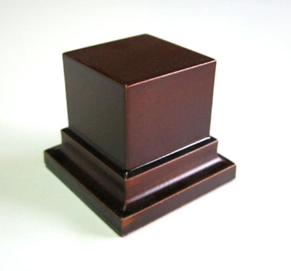 PEANA PEDESTAL Cuadrada 4x4 Avellana
