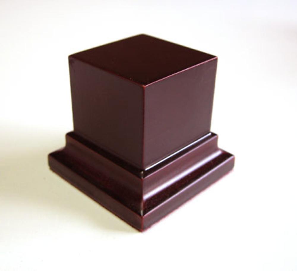 PEANA PEDESTAL Cuadrada 4x4 Caoba