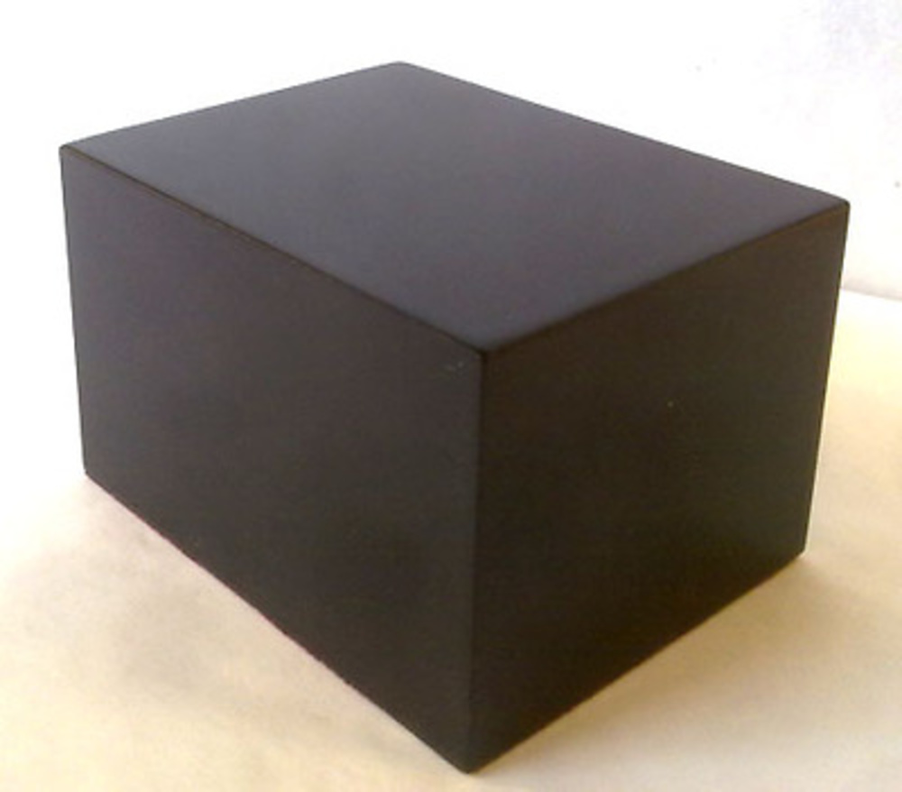WOOD BASE BLOCK 8X6 Black