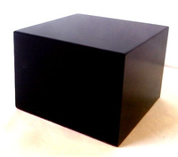 WOOD BASE BLOCK 7x7 Black