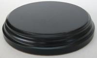 WOODEN BASE Round 10cm Black