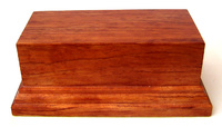 WOODEN BASE STAND Rectangular 12x6 Bubinga