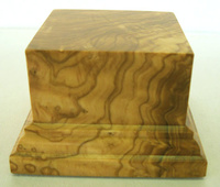 WOODEN BASE STAND Square 6x6 Olive