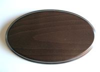 WOODEN BASE oval 28x14