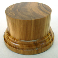 WOODEN BASE/STAND 50mm Round 6,5cm Olive