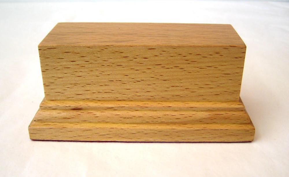 PEANA PEDESTAL Rectangular 10x4 Madera Haya