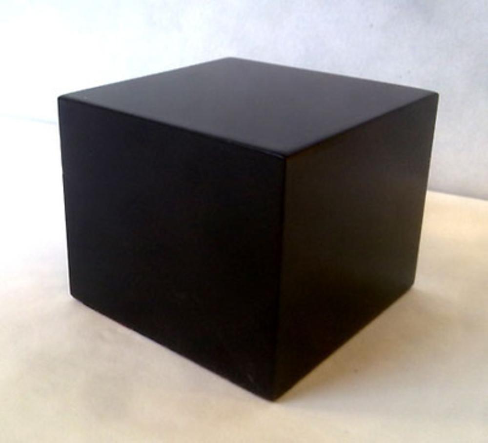 WOOD BASE BLOCK 6x6 Black