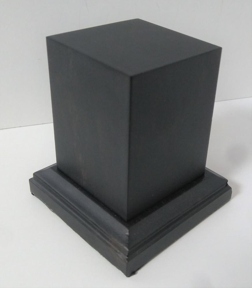 WOODEN BASE 65MM Square 40x40mm Ebony wood