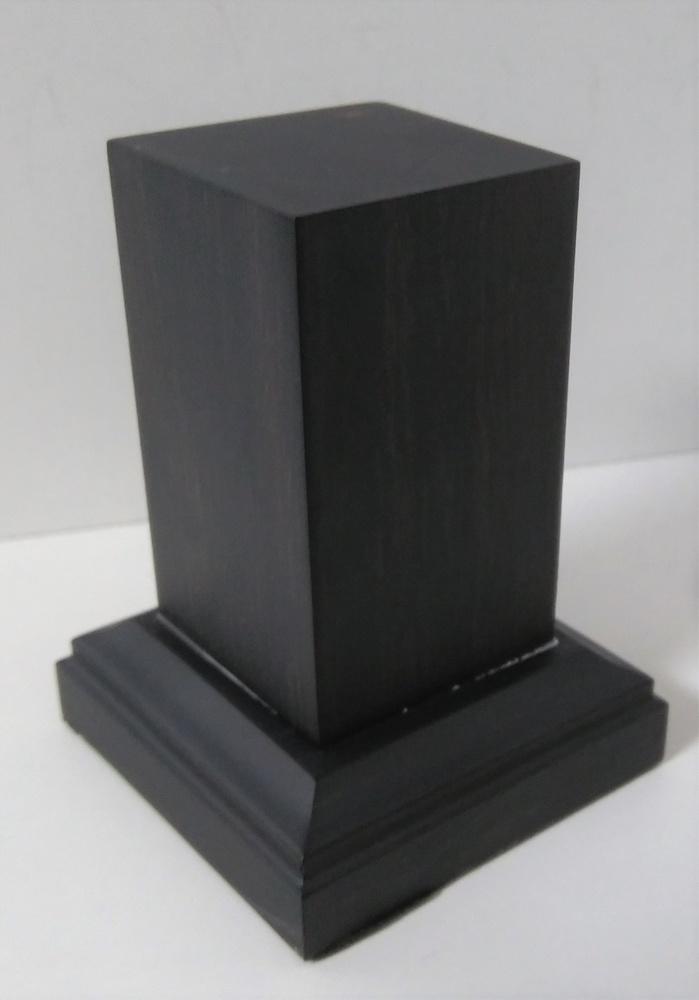 WOODEN BASE 65mm Square 30x30mm Ebony Wood