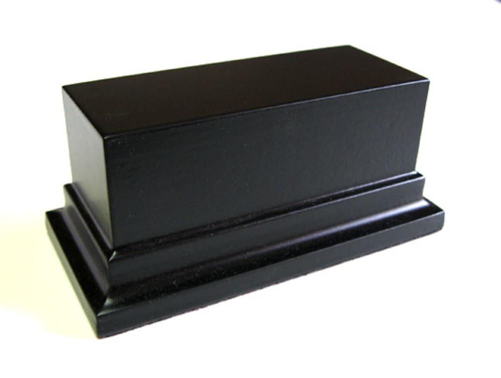 WOODEN BASE STAND Rectangular 10x4 black