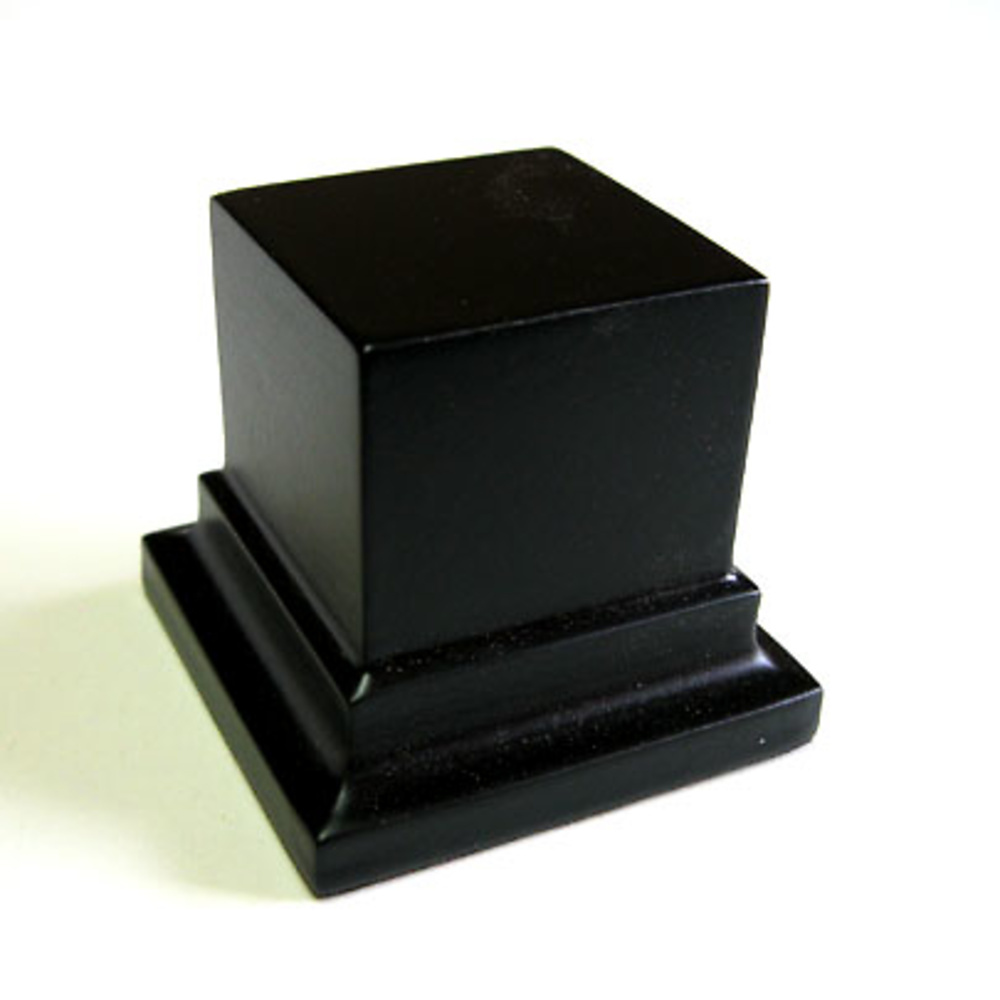 WOODEN BASE STAND Square 4x4 Black