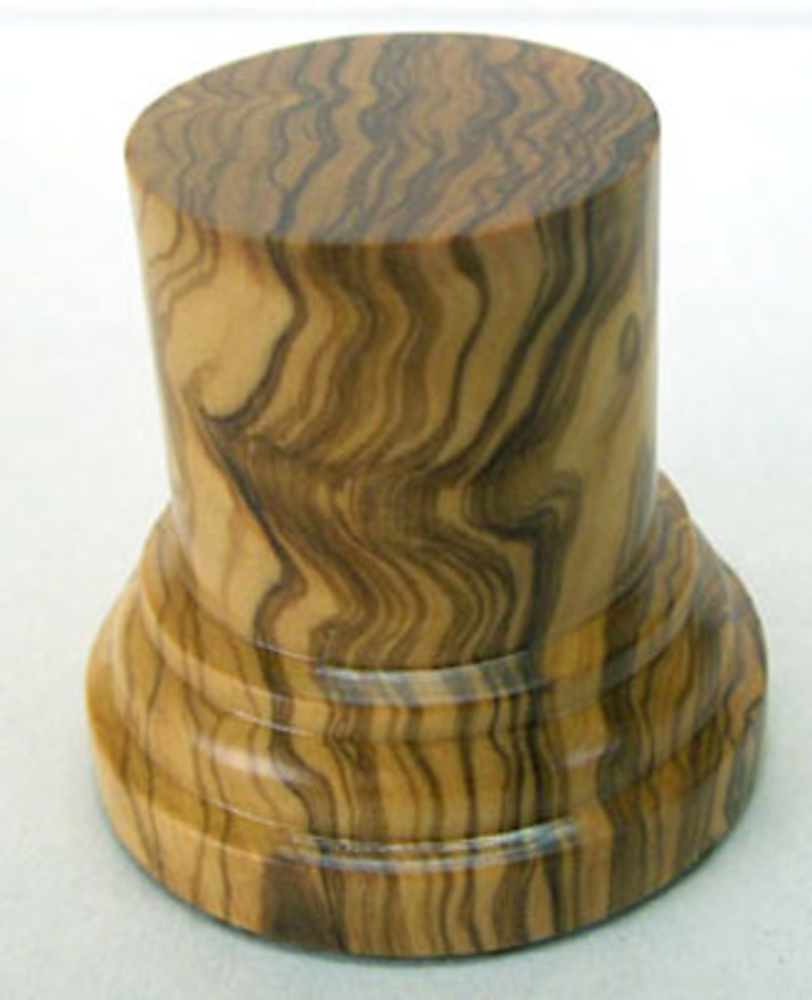 WOODEN BASE/STAND 50mm Round 4,5cm Olive