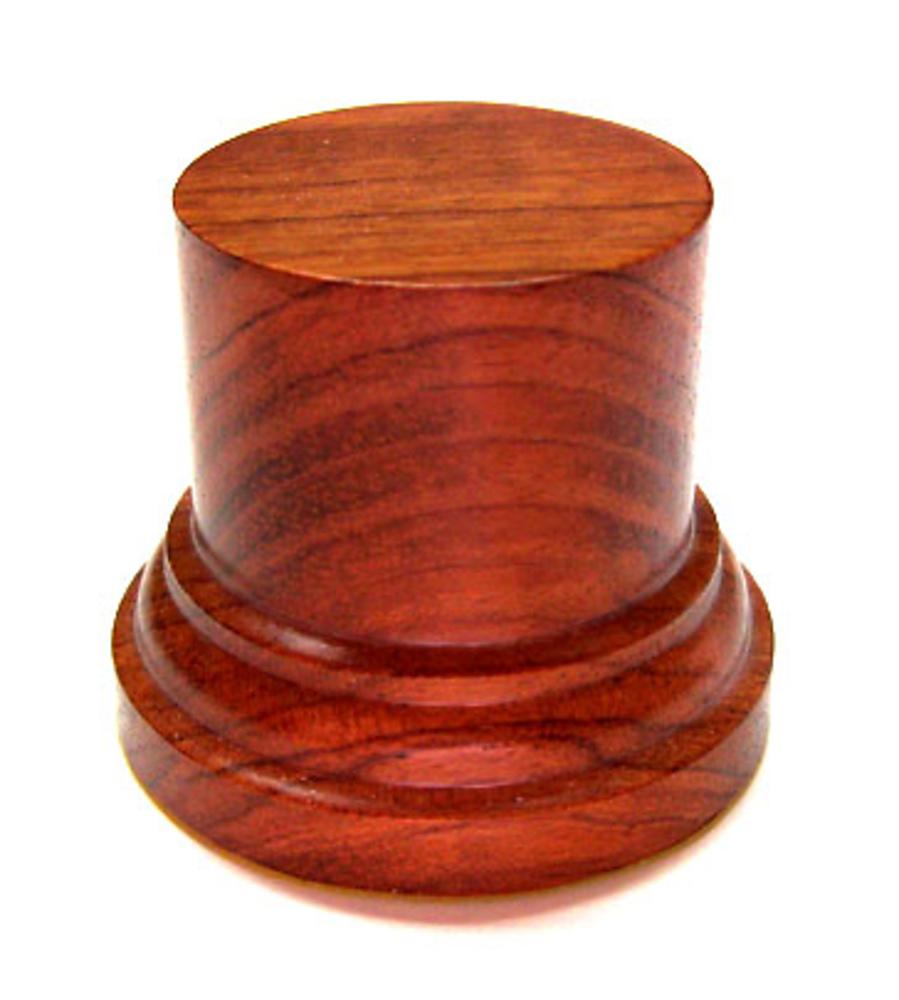 WOODEN BASE/STAND Round 4,5cm Bubinga