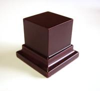 PEANA PEDESTAL Cuadrada 5x5 Caoba