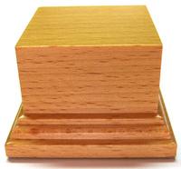 PEANA PEDESTAL Cuadrada 6x6 Madera Haya