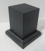 WOODEN BASE 65MM Square 40x40mm Ebony wood