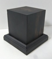 WOODEN BASE 65mm Square 50x50mm Ebony Wood