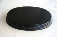 WOODEN BASE Oval 17x11 Black