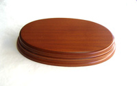 WOODEN BASE Oval 17x11 Hazel