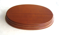 WOODEN BASE Oval 20x14 Hazel