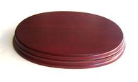 WOODEN BASE Oval 20x14 Mahogany