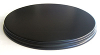 WOODEN BASE Oval 26x18 Black