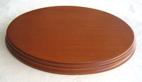 WOODEN BASE Oval 26x18 Hazel