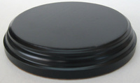 WOODEN BASE Round 10cm Black