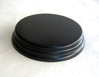 WOODEN BASE Round 11cm Black