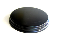 WOODEN BASE Round 15cm Black