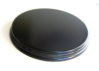 WOODEN BASE Round 18cm Black
