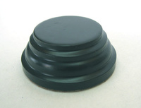 WOODEN BASE Round 3,5cm Black