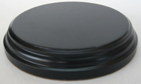 WOODEN BASE Round 6,5cm Black