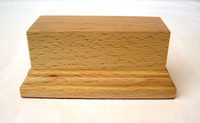 WOODEN BASE STAND Rectangular 10x4 Beech