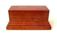 WOODEN BASE STAND Rectangular 10x4 Bubinga
