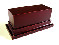 WOODEN BASE STAND Rectangular 10x4 Mahogany