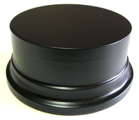 WOODEN BASE STAND Round 10cm Black