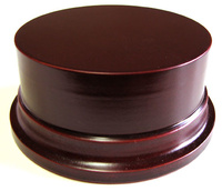 WOODEN BASE STAND Round 10cm Mahogany