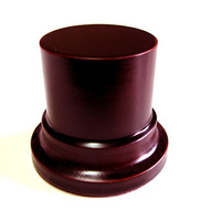 WOODEN BASE STAND Round 4,5cm Mahogany