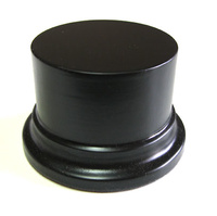 WOODEN BASE STAND Round 6,5cm Black