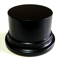 WOODEN BASE STAND Round 8cm Black