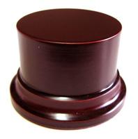 WOODEN BASE STAND Round 8cm Mahogany