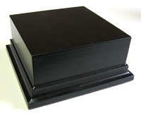 WOODEN BASE STAND Square 10x10 Black