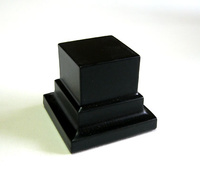 WOODEN BASE STAND Square 3x3 Black