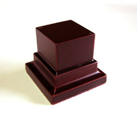 WOODEN BASE STAND Square 3x3 Mahogany
