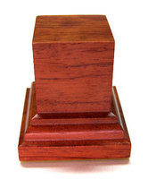WOODEN BASE STAND Square 4x4 Bubinga