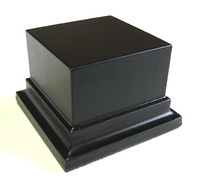 WOODEN BASE STAND Square 6x6 Negro