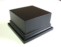 WOODEN BASE STAND Square 8x8 Black