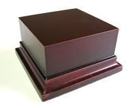 WOODEN BASE STAND Square 8x8 Mahogany